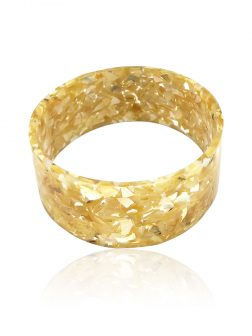 MERMAID BEACH COLLECTION Champagne Mother-of-Pearl Large Slip-On Bangle
