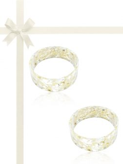 MERMAID BEACH COLLECTION Mother-of-Pearl Gift Set of Two Stackable Bangles