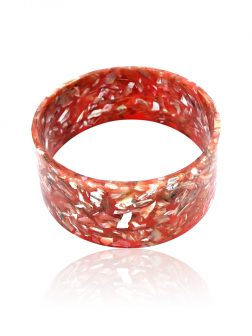 NOUVELLE-CALÉDONIE COLLECTION Pink Abalone Large Slip-On Bangle