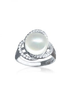 ROSE ATOLL COLLECTION Harmony Diamond Encrusted Pearl Ring