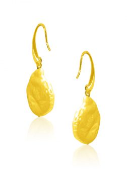 SUNSHINE COAST COLLECTION Blonde Coin Pearl Earrings in 18K Yellow Gold