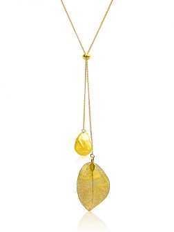 SUNSHINE COAST COLLECTION Blonde Coin Pearl Pendant in 18K Yellow Gold