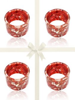 NOUVELLE-CALÉDONIE COLLECTION Pink Abalone Gift Set of 4 Napkin Rings