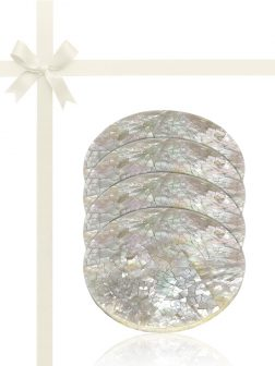 WAIKIKI COLLECTION Mother-of-Pearl Gift Set of 4 Drinks Coasters