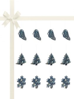 RAINBOW REEF COLLECTION Blue Abalone Luxury Christmas Décor Gift Set of 12