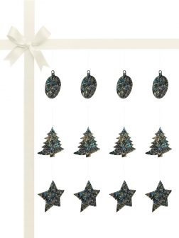 RAINBOW REEF COLLECTION New Zealand Abalone Luxury Christmas Décor Gift Set of 12