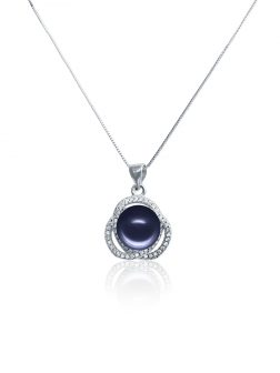ROSE ATOLL COLLECTION Harmony Diamond Encrusted Midnight Pearl Pendant