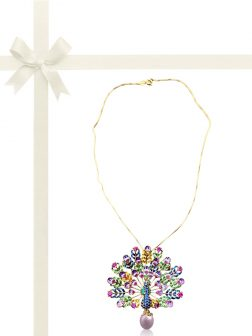 TERAINA COVE COLLECTION Paradise Peacock Blush Pearl Brooch & Pendant Gift Set