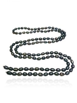 SOCIETY ISLANDS COLLECTION After-Dark 120 Pearl Waterfall Statement Necklace