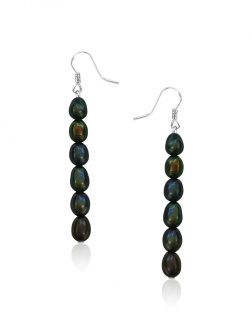 SOCIETY ISLANDS COLLECTION After-Dark Waterfall Statement Earrings