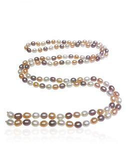 SOCIETY ISLANDS COLLECTION Sunrise 120 Pearl Waterfall Statement Necklace