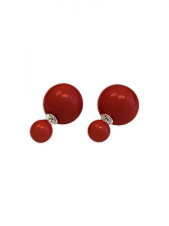 PACIFIC PEARLS OYSTER BAY COLLECTION Cherry Mother-of-Pearl Reversible Stud Earrings