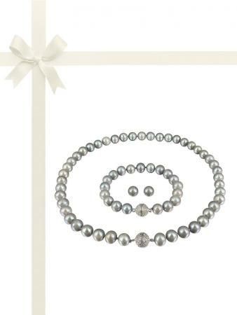 PACIFIC PEARLS MARIA-THERESA REEF COLLECTION Silver Agave Pearl Gift Set
