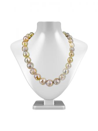 PACIFIC PEARLS WAIKIKI COLLECTION Metallic Multicolor 11-14mm Ripple Pearl Necklace