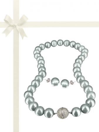 PACIFIC PEARLS VANUATU COLLECTION Mist 11-12mm Pearl Gift Set
