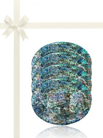GALÁPAGOS COLLECTION Abalone Gift Set of 4 Drinks Coasters