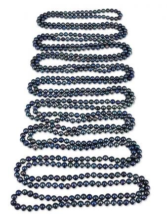 PACIFIC PEARLS SOCIETY ISLANDS COLLECTION Peacock Dreams 600 Pearl Necklace